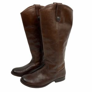 Frye | Melissa Button Brown Extended Calf 77167